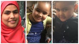 Rania Ibrahim and children