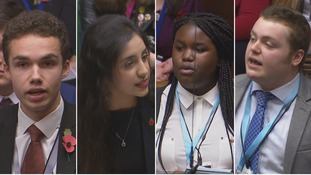 Members of the Youth Parliament from the East of England speaking in the House of Commons.