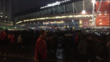 Crowds at the Principality Stadium