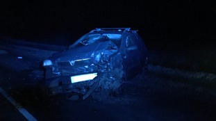 The car crashed on Hariff Lane in Burstwick
