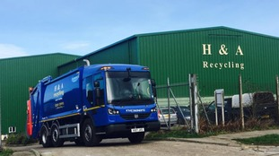 The man died at the H&A Recycling Plant in Redruth on Thursday