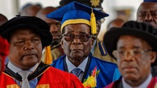Robert Mugabe appears in public for first time since takeover