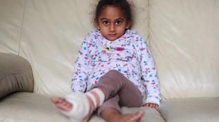 Sayeeda was badly burned after a display firework was thrown through her kitchen window.