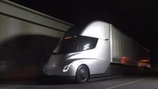 Tesla unveils its first articulated electric lorry