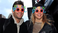 Gemma Atkinson and Aljaz Skorjanec arriving at Blackpool Tower