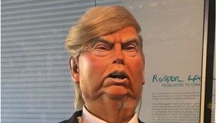 A Spitting Image puppet of Donald Trump has gone on display at the UEA