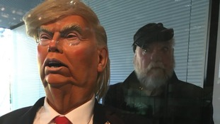 Donald Trump with creator Roger Law
