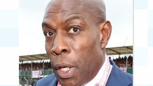 Frank Bruno donated a signed golden glove worth £250 after money was stolen from a poppy tin