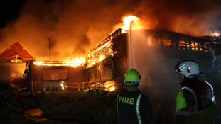 Fire engulfs building in Rotherham