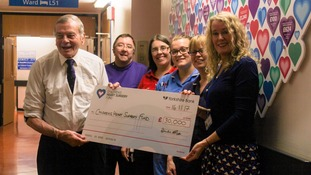 Owzat! Dickie Bird bowled over by Children's heart charity and donates £30,000