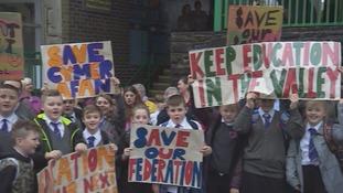 Cymer Afan School protest