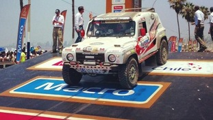 The Race2Recovery team tweeted an image of its truck from the start of the Dakar Rally.
