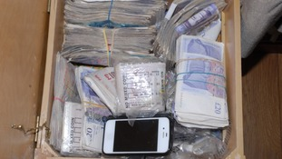 Cash seized in drugs raid