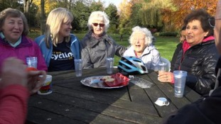 The cycling club meet once a week.
