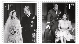 New stamps commemorate Queen and Duke of Edinburgh's 70th wedding anniversary