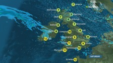 Cold and bright in the north but cloudier in the south