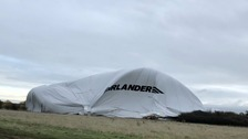 Airlander 10 crashes into field in Bedfordshire