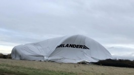 Airlander 10 crashes into field in at Cardington