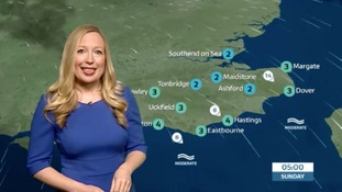 Saturday evening's weather for the east