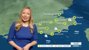 Sunday's weather for the east with Philippa