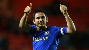 Chelsea midfielder Frank Lampard celebrates after his team's FA Cup win over Southampton.