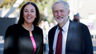 Kezia Dugdale with Jeremy Corbyn