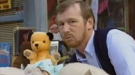 Matthew with Sooty.