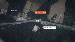 Pedestrian dies after collision with car on A2 in Kent