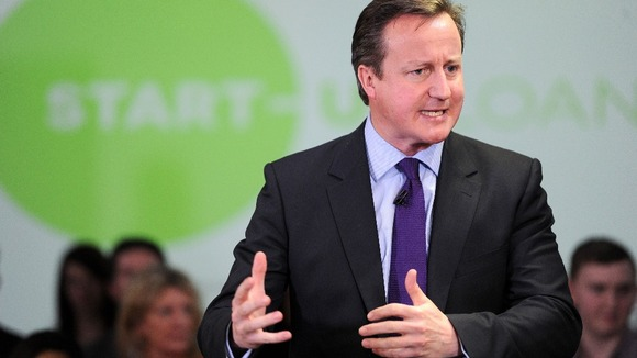 Prime Minister David Cameron talks to entrepreneurs last week.