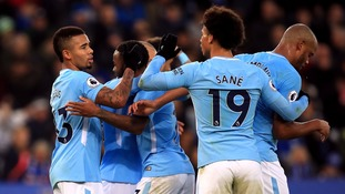 Premier League: Man City roll on with 2-0 win at Leicester