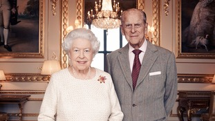 Buckingham Palace releases new image of Queen and Duke of Edinburgh to mark platinum anniversary