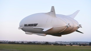 The Airlander uses helium to become airborne and can carry 10 tonnes of cargo