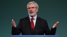 The 69-year-old told the annual Sinn Fein Ard Fheis it would be his last as leader