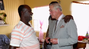 Prince Charles visited affected areas in the storm-hit British Virgin Islands