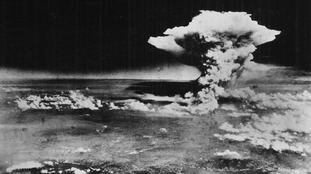 Images of the US nuclear bomb dropped on Hiroshima, Japan, in 2945.