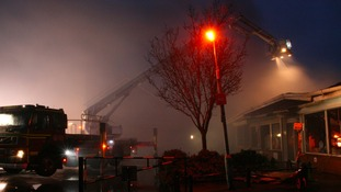 Fire crews tackle to flames