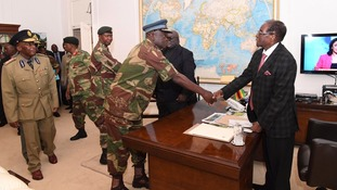 President Mugabe meets Defence Force Generals at State House on Sunday.