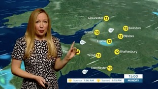 Showers overnight and tomorrow, but milder temperatures