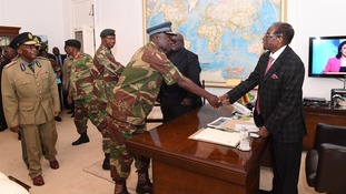 President Mugabe meets Defence Force generals at State House on Sunday amid calls for his resignation.