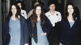 Left to right: Susan Atkins, Patricia Krenwinkel and Leslie Van Houten were part of Manson's cult.