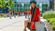 Gabby Logan has been the university's chancellor for almost five years.