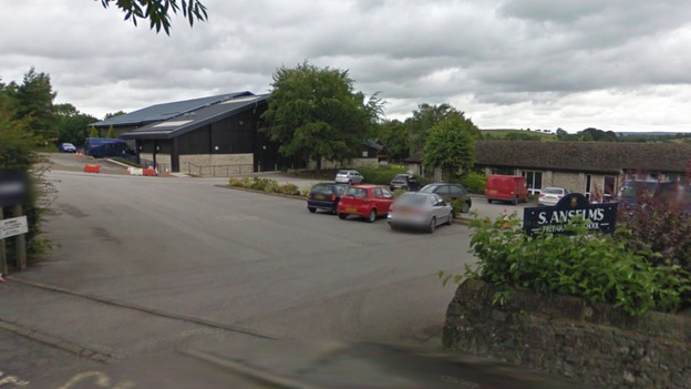 Google street view showing the entrance to the St Anselm's Prep School in Bakewell