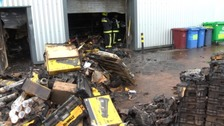 Fire wrecks Exeter hardware supplier