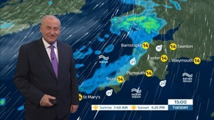Cloud, rain and very mild for the time of year