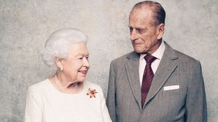 Queen presents Duke of Edinburgh with honour to mark platinum wedding anniversary