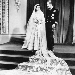 The pair on their wedding day in 1947.
