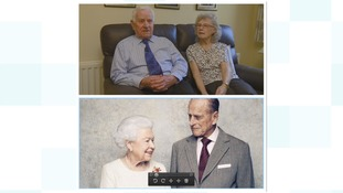 Tom and Amy and the Queen and Duke of Edinburgh today.