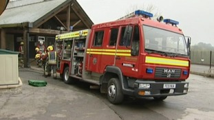 Six fire crews were needed to tackle the fire at St Anselm's school in Bakewell