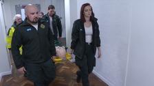 Paramedics undergoing training
