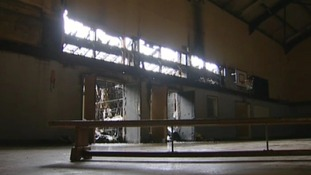 The fire broke out in the school's sports hall